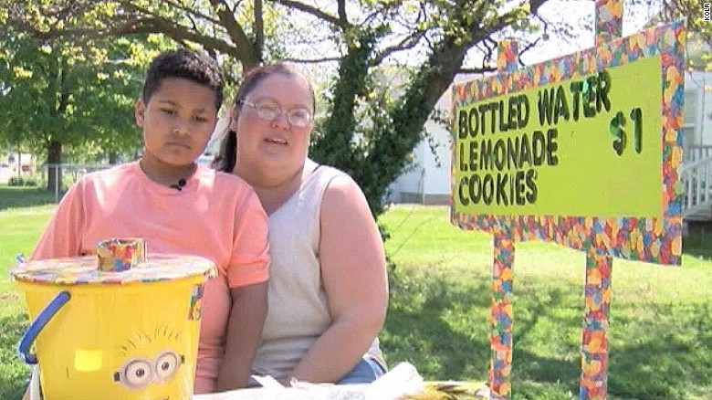 Boy sells lemonade to fund his own adoption
