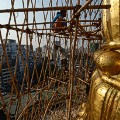 bamboo scaffolding myanmar Sule Pagoda Tower