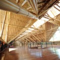 Bali factory built with bamboo roof