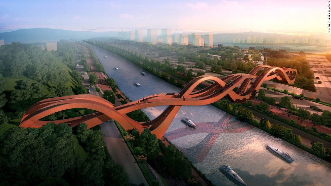 "The name and shape of <a href=""http://www.nextarchitects.com/en/what/2016/"" target=""_blank"">NEXT Architects</a>' Lucky Knot Bridge refer to the Chinese art of decorative knotting, which is associated with good luck."