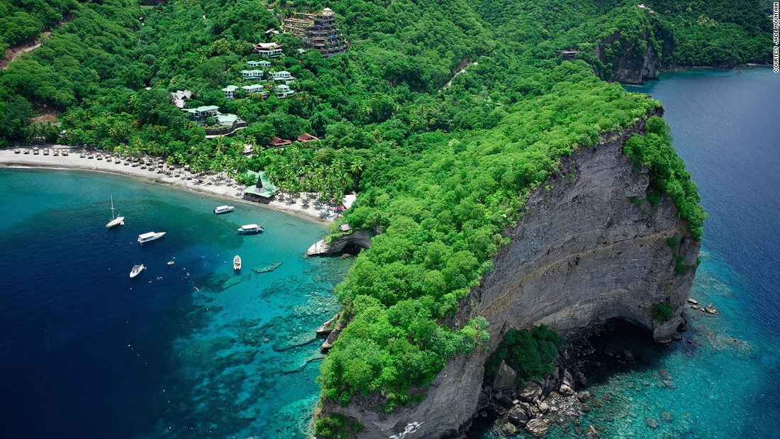 St. Lucia's marine ecosystem is home to more than 100 species of fish.