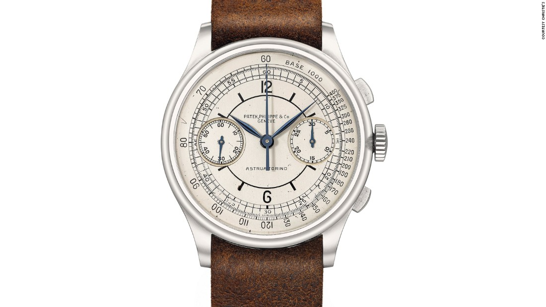 "This rare Patek chrono, previously unknown to the market, is possibly one of a kind. It's one of the most impressive oversized chronographs ever made by Patek Philippe, produced in 1938 and retailed by Italy's Astrua. Christie's notes it ""rewrites the book"" for the reference 530."