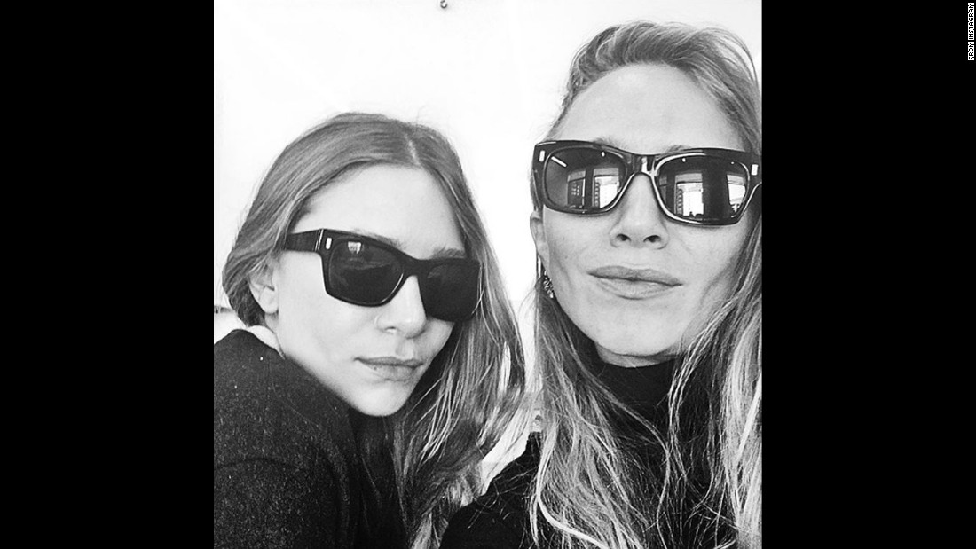"Twin actresses Mary-Kate and Ashley Olsen take their <a href=""https://www.instagram.com/p/BEJh3RuuGYD/"" target=""_blank"">""first public selfie ever""</a> in this photo posted by the Sephora cosmetic company on Wednesday, April 13."
