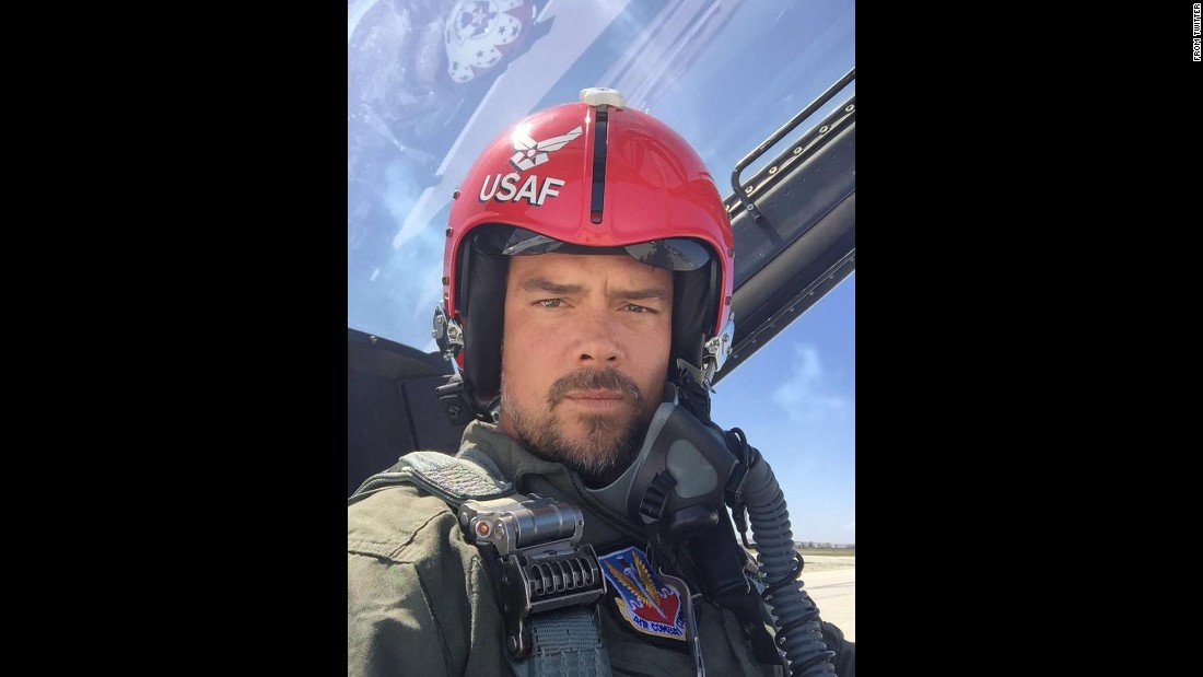 "Actor Josh Duhamel takes a selfie in the cockpit as he flies with the U.S. Air Force ""Thunderbirds."" ""What an honor,"" <a href=""https://twitter.com/joshduhamel/status/721465458965106688"" target=""_blank"">he tweeted</a> on Saturday, April 16."