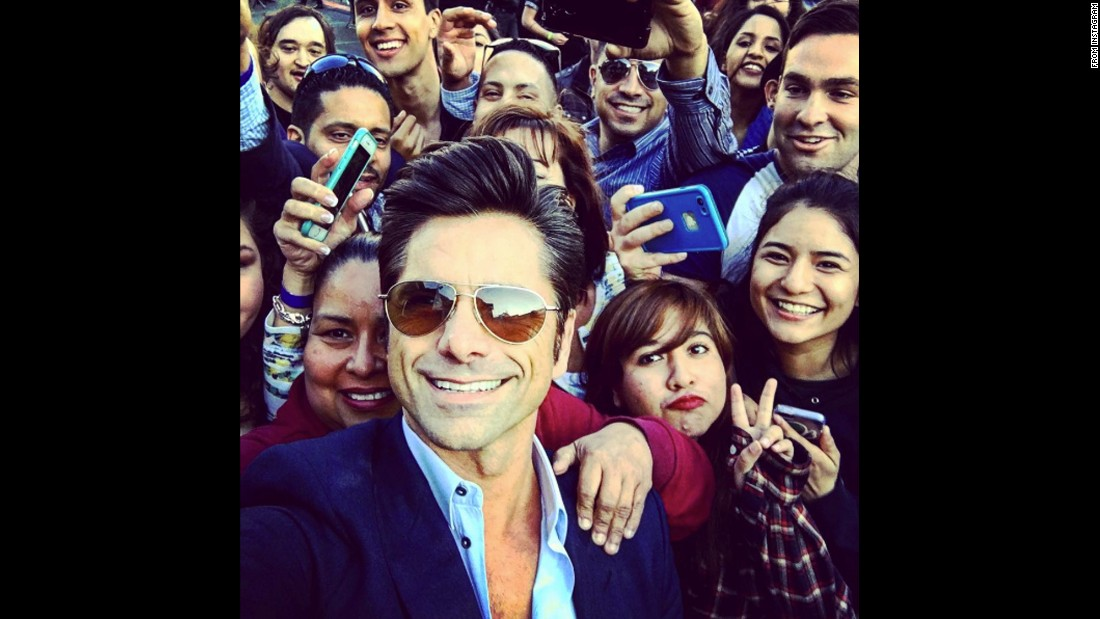 """Hanging with the cool kids after @jimmykimmellive,"" <a href=""https://www.instagram.com/p/BEpom7bihwq/"" target=""_blank"">actor John Stamos said</a> on Tuesday, April 26."