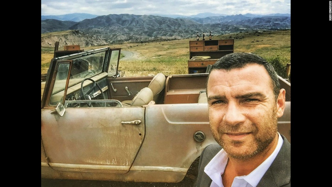 """Another beautiful day on Ray..."" <a href=""https://www.instagram.com/p/BEEfZXkHHeQ/"" target=""_blank"">said ""Ray Donovan"" star Liev Schreiber</a> on Monday, April 11."