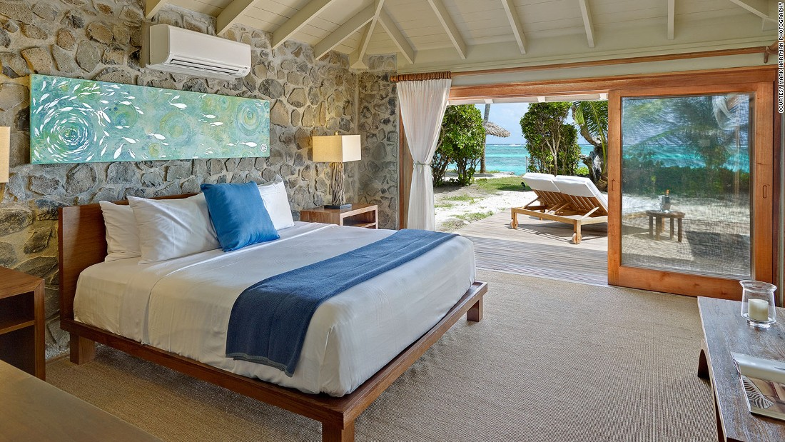 Petit St. Vincent has 22 one-bedroom cottages and two-bedroom beach villas.