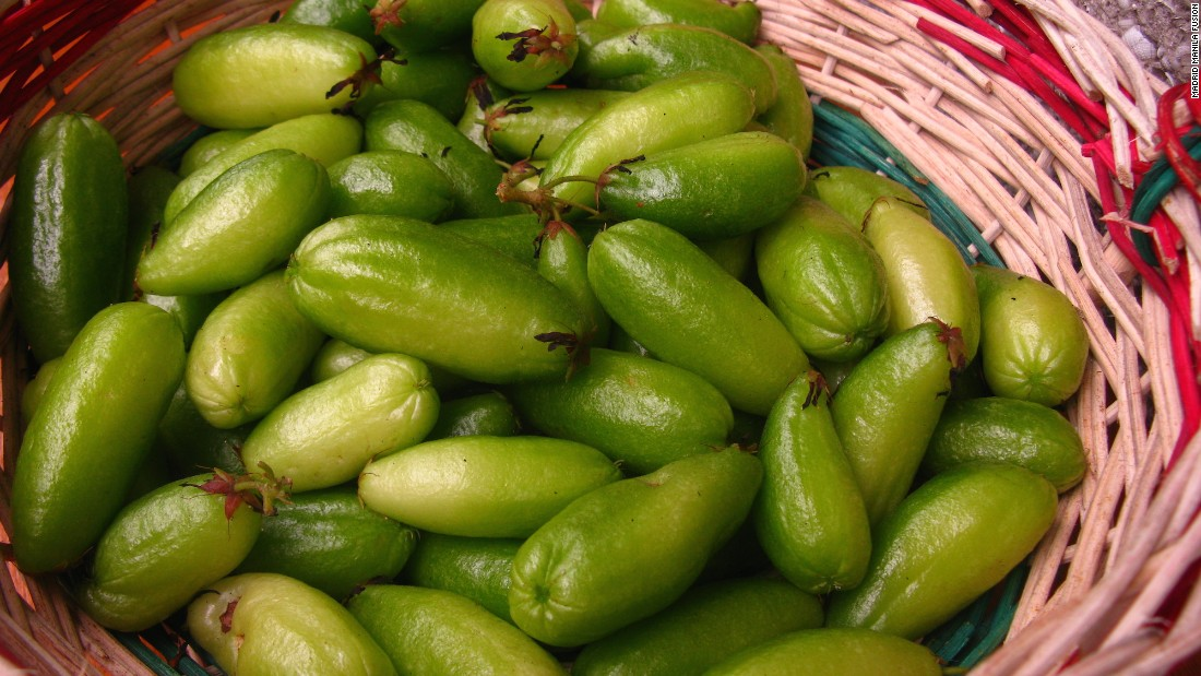 Souring agents are a constant and critical component of Filipino cuisine. The prize for the ultimate sour Filipino ingredient goes to kamias, a soft yellow-green fruit that will have you puckering in no time.