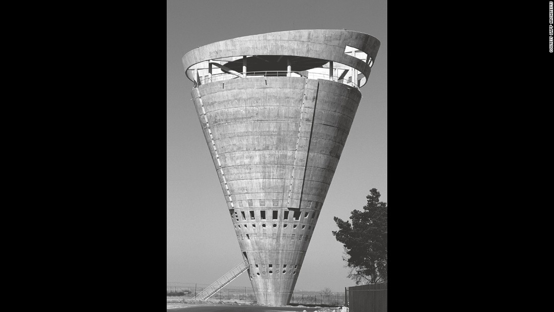 The rapid development of concrete engineering in the mid-twentieth century allowed architects to craft increasingly outrageous designs for even the most perfunctory of buildings, such as the Grand Central Water tower, with its vertical cantilever structure.