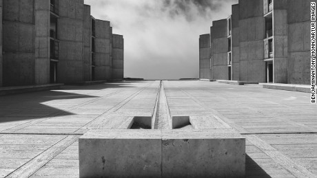 Salk Institute, La Jolla, California, USA by Louis Kahn (1965).