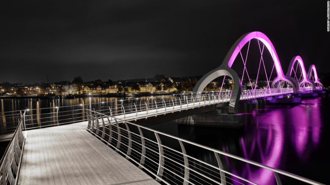 "In a rare twist, the <a href=""http://www.ljusarkitektur.com/en/"" target=""_blank"">Sölvesborg Bridge</a> -- Europe's longest pedestrian bridge at 2,480 feet -- was specially enhanced by a lighting design firm rather than an architect. Ljusarkitektur mounted the structure with color-change LED lights."
