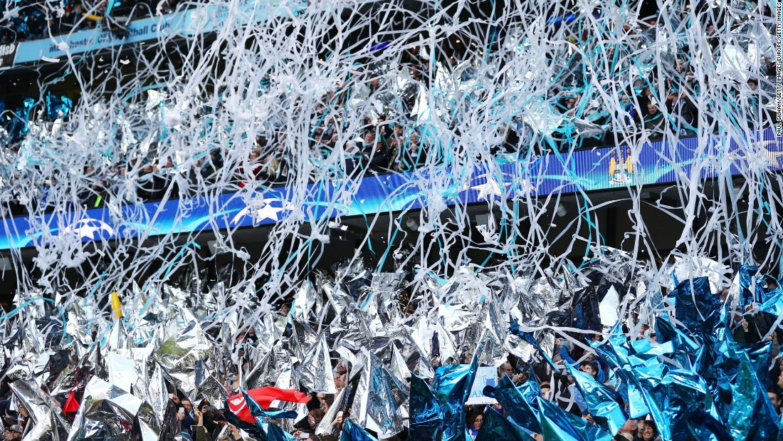 City's supporters welcomed the teams with Real the favorite to reach the final. Real, which has won the competition a record 10 times, is featuring in the last four for the 27th time.