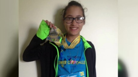 Girl, 12, accidentally runs half marathon