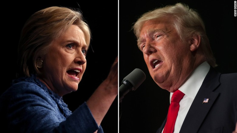 Trump and Clinton face off on the campaign trail