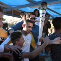 Olympic torch Syrian refugee Ibrahim al-Hussein