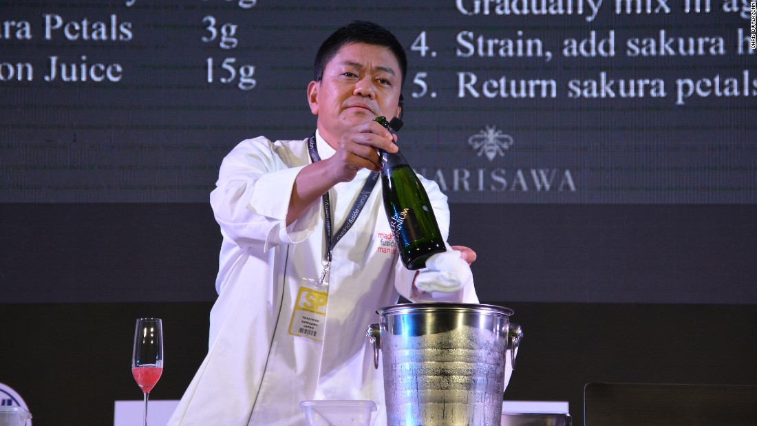 Chef Joan wasn't the only superstar in town. Japanese chef Yoshihiro Narisawa wowed Manila audiences by preparing beautiful dishes featuring spring cherry blossoms.