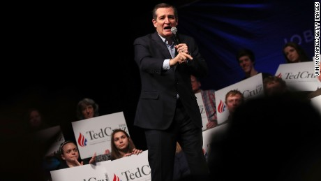 Republican presidential candidate Sen. Ted Cruz (R-TX) campaigns at the Weinberg Theater April 21, 2016 in Frederick, Maryland. Maryland and four other northeastern states hold their primaries next Tuesday.  (Photo by Win McNamee/Getty Images)