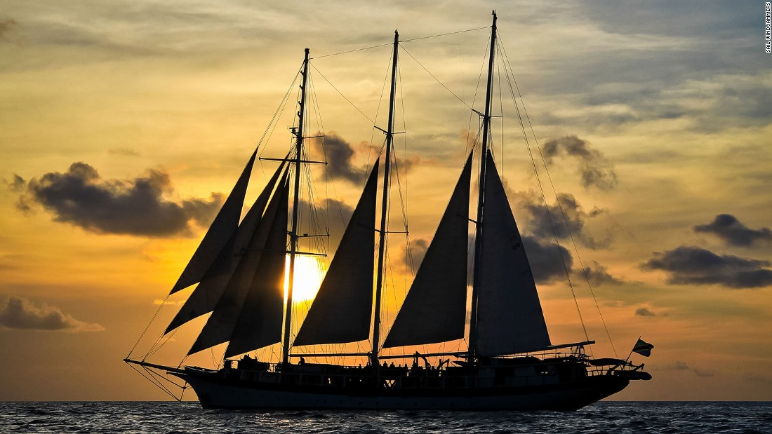 "This three-masted sailing vessel goes to the postcard Caribbean destinations that the big cruise ships can't get to. ""You're not herded off the boat,"" says owner's daughter Tiffany Mitchell. ""You get to know the crew, locals and fellow passengers."""