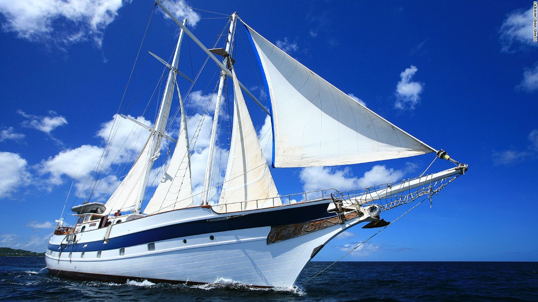 From its home port in St. John, Grenada, the Diamant follows the Windward Islands.