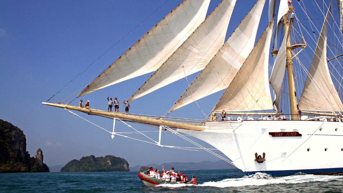 The Star Flyer offers island-hopping throughout the Mediterranean nearly year-round, with Asian trips out of Phuket, Thailand, February through April.