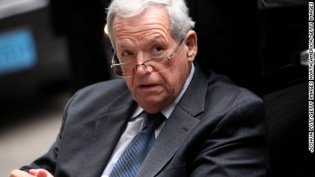 CHICAGO, IL - APRIL 27:  Former House Speaker Dennis Hastert leaves the Dirksen Federal Court House in a wheelchair after his sentencing on April 27, 2016 in Chicago, Illinois. Hastert was sentenced to 15 months in prison and ordered to pay $250,000 to a victim's fund for breaking banking laws as he sought to pay a man identified only as Individual A, 14-years-old at the time, millions of dollars to keep quiet about past sexual abuse. The abuse occured during Hastert's years as wrestling coach at Yorkville High School decades ago. (Photo by Joshua Lott/Getty Images)