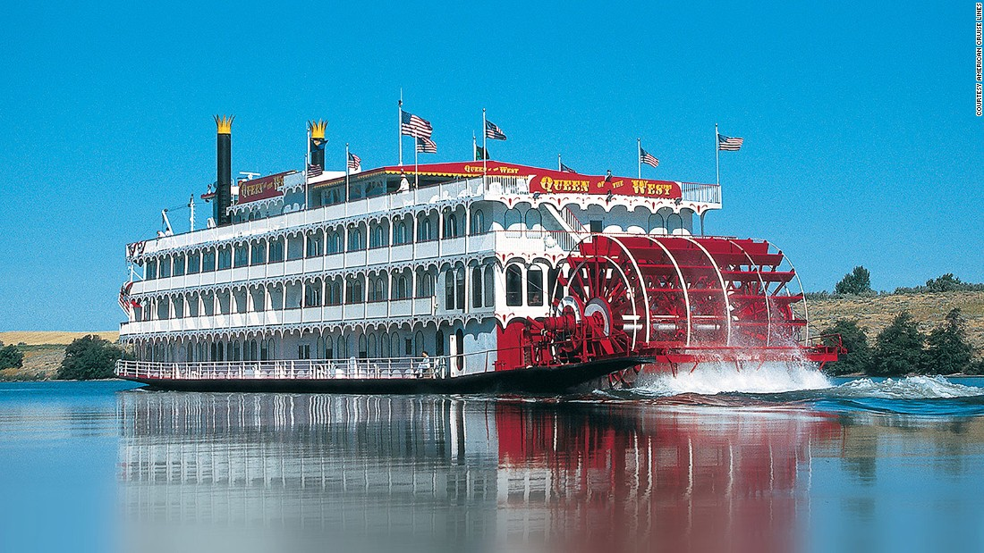 The Queen of the West, a four-deck,120-capacity authentic sternwheeler, churns the waters of the mighty Columbia and Snake rivers in Oregon and Washington.