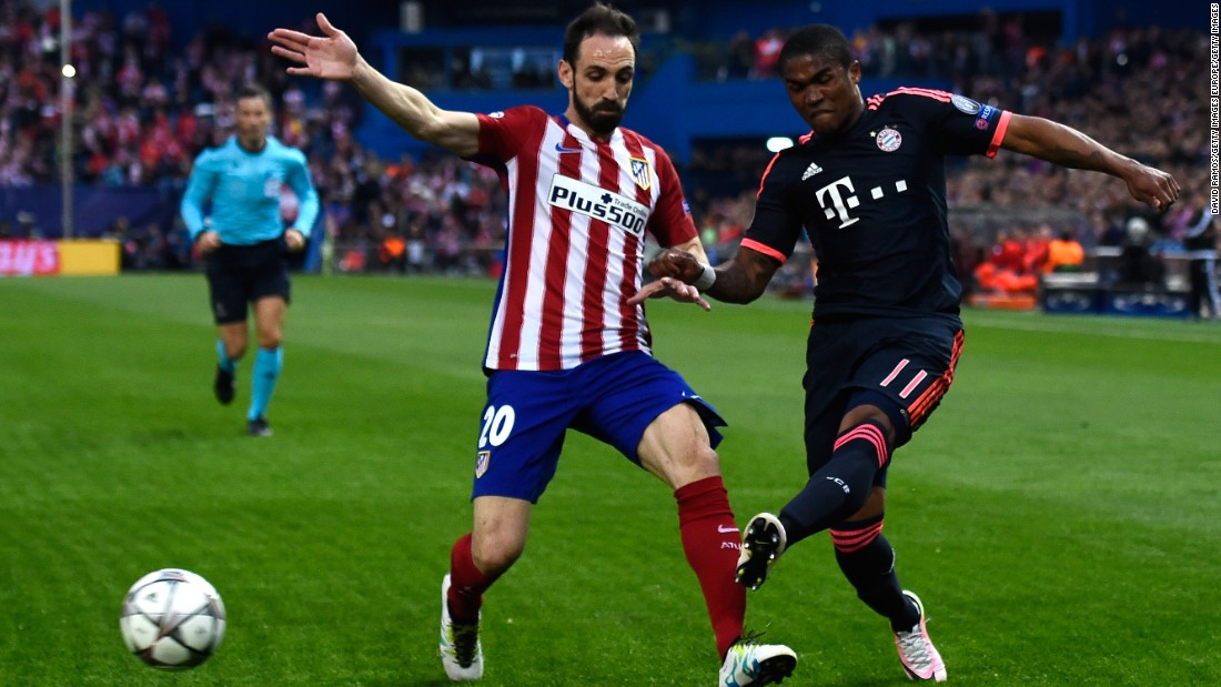Atletico, aiming to qualify for a second Champions League final in three years, dominated the first half with Bayern struggling to find its rhythm.