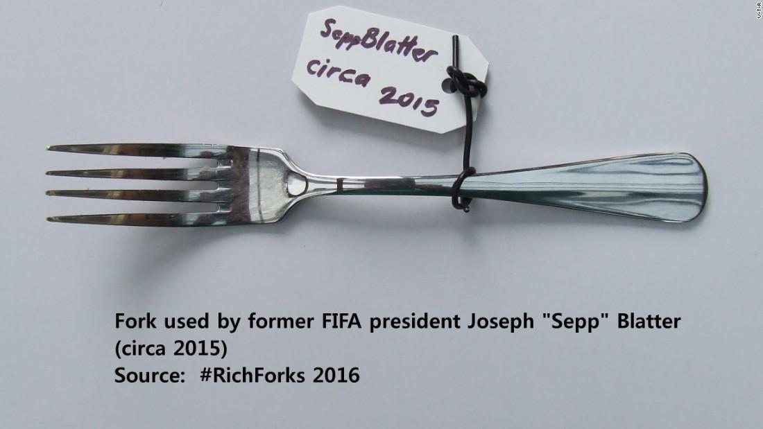 Fork exhibition Sepp blatter 2015