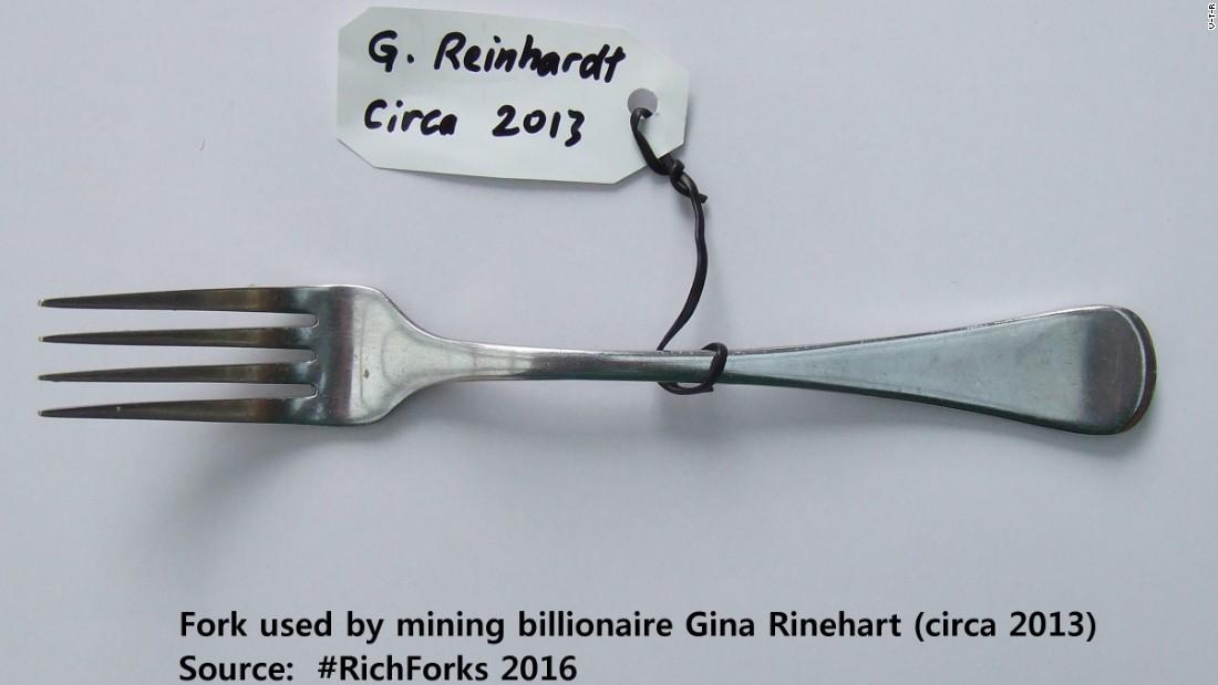 fork exhibition gina rinehart