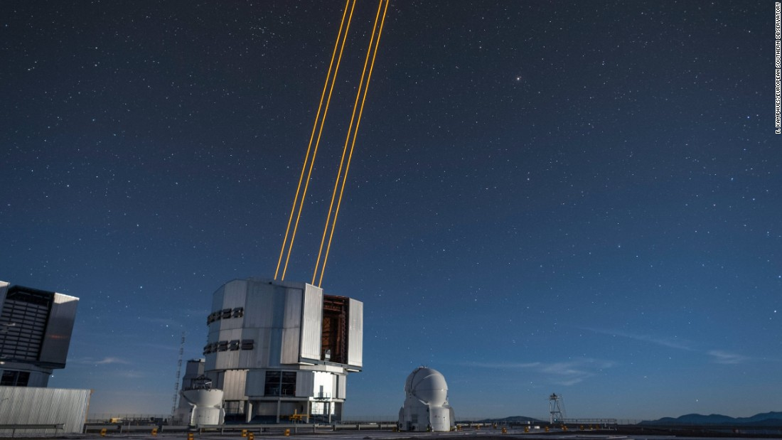 The lasers are the most powerful laser guide stars ever used for astronomical purposes, according to ESO.