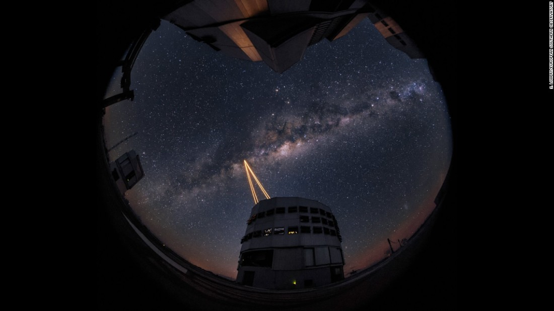 """Attendees were treated to a spectacular display of cutting-edge laser technology against the majestic skies of Paranal,"" an ESO statement said."