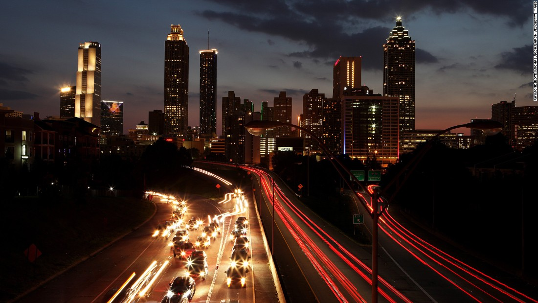 Atlanta visitors will pay about 28% less for flights to Georgia's capital city.