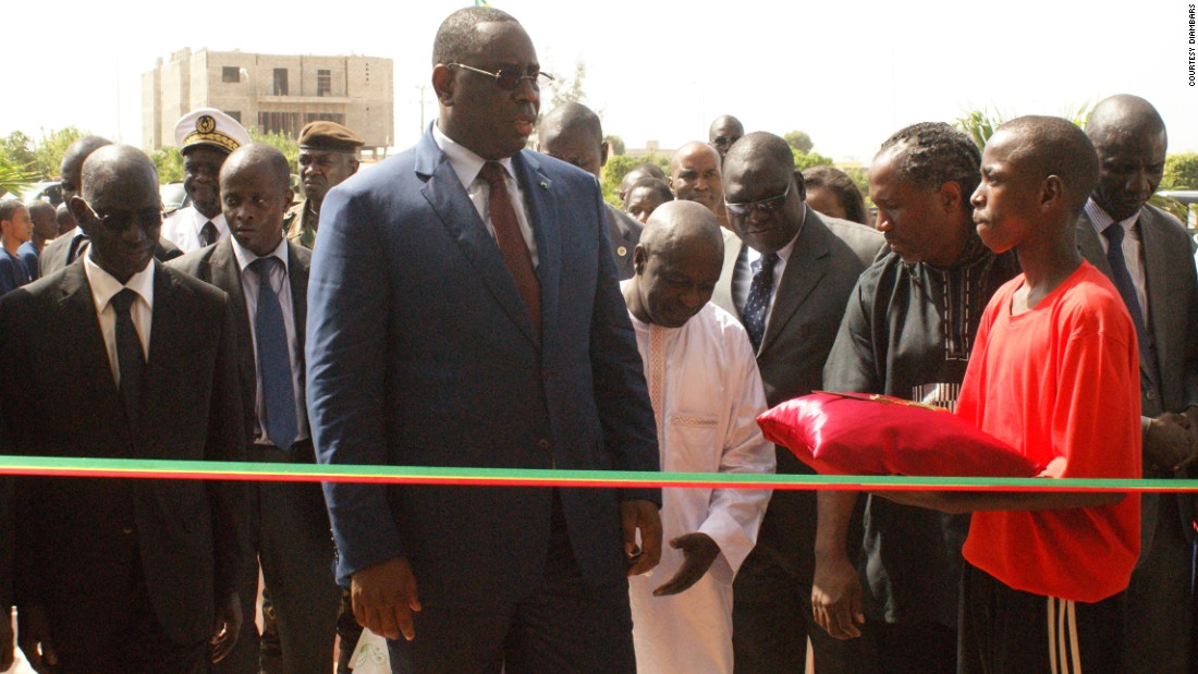 Senegal's president, Macky Sall, officially opened the academy. It is located near the beach resort of Saly, three hours south of the capital, Dakar.