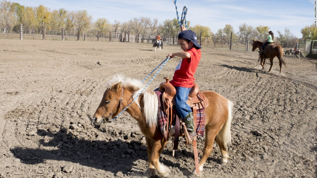 Kids start riding early in Montana.