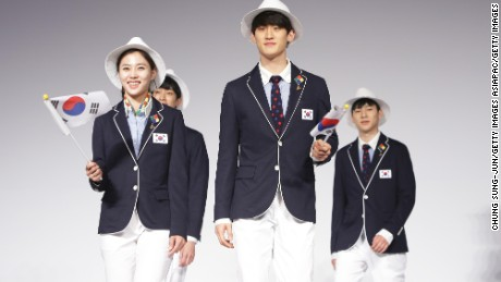 South Korea unveiled its new Olympic fashion range with 100 days until the Rio Games.