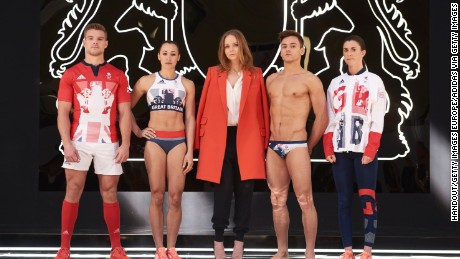 Stella McCartney designed Great Britain's outfits for the Games.