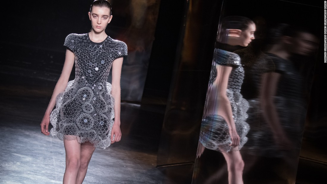 Dutch designer Iris van Herpen is at the forefront of the high-tech fashion movement with her innovative designs and presentations.