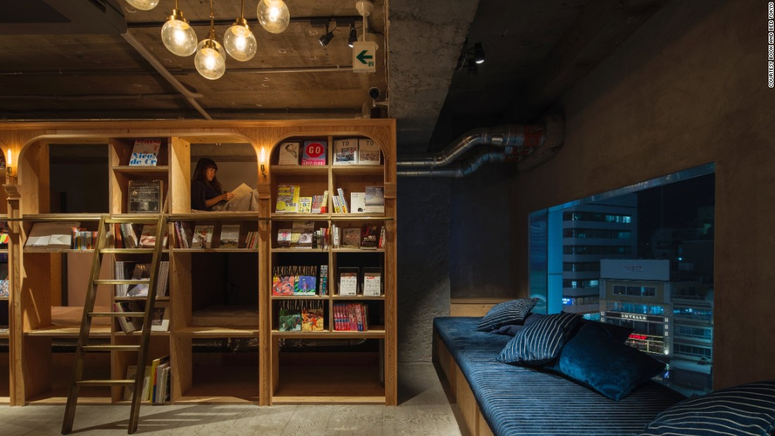 This hostel in Tokyo's Ikebukuro neighborhood is ideal for those who forgot to pack their Kindle.
