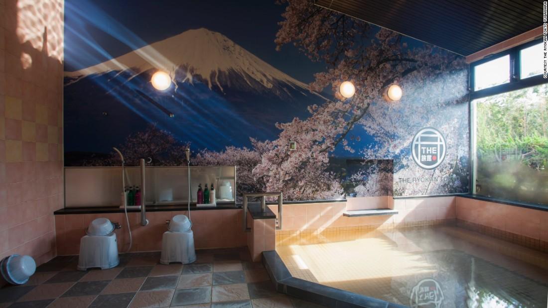 Visitors can soak in the Ryokan Tokyo Yugawara's own onsen (hot spring) before going to bed.