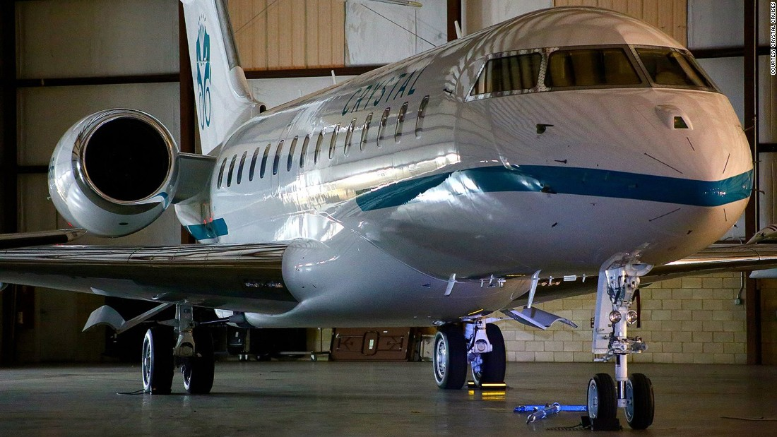 The Crystal Luxury Air fleet already has a Bombardier Global Express XRS, which launches officially in May. It holds just 12 guests and is available for private charter.