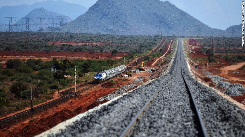 """Kenya is spearheading the project, with a new 472-kilometers-long standard gauge line connecting<a href=""""http://edition.cnn.com/2016/05/15/africa/kenya-railway-east-africa/""""> Mombasa to Nairobi taking shape</a>."""