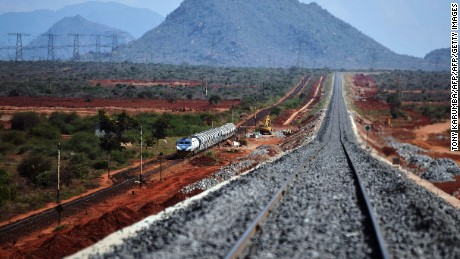 Kenya's new $13bn railway was funded by China.