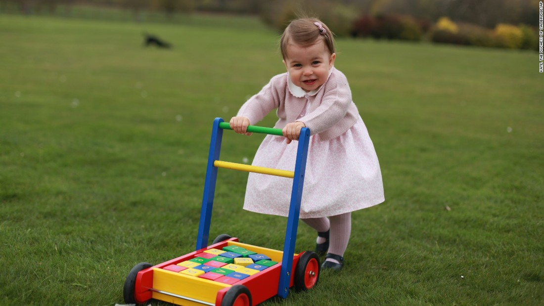 "In this undated handout photo released on Sunday, May 1, by Kensington Palace, Britain's <a href=""http://www.cnn.com/2016/05/01/europe/uk-princess-charlotte-photos/index.html"" target=""_blank"">Princess Charlotte</a> poses for a photograph at Anmer Hall in Norfolk, England. The princess will celebrate her first birthday on Monday."