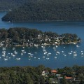 sydney from the air pittwater yachts