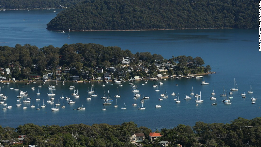 An array of yachts on Pittwater.