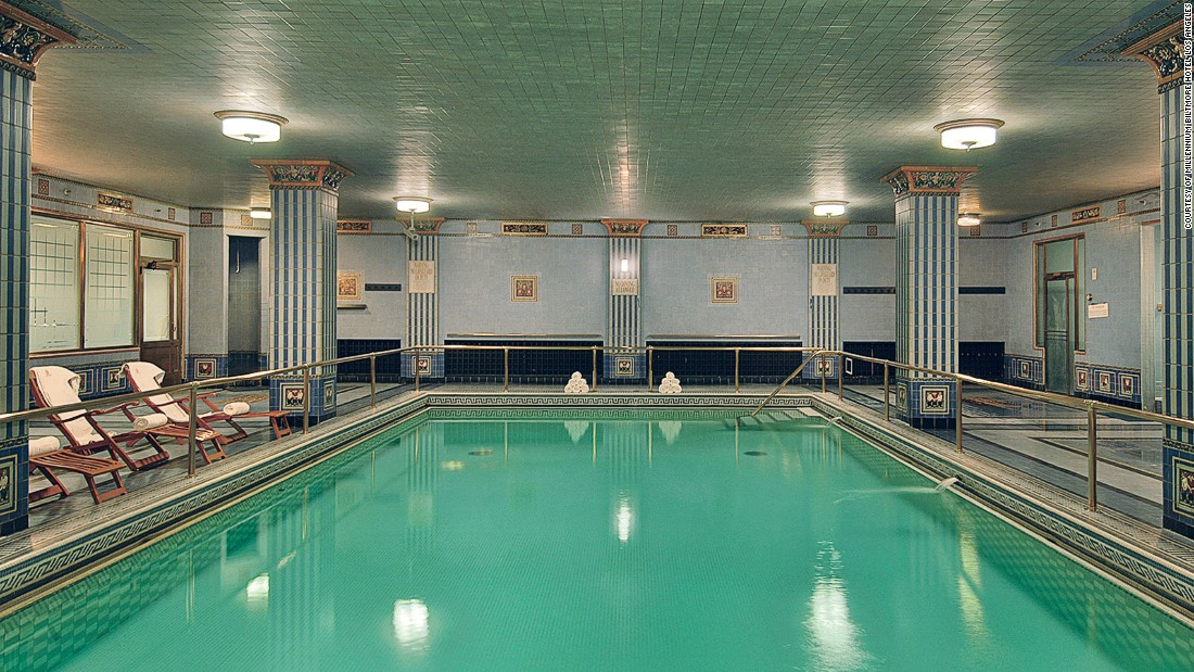 Los angeles hotel pools 6 that make a real splash for Biltmore estate indoor swimming pool