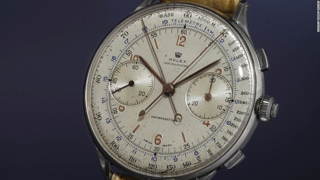 The Ref. 4113, known as the world's most expensive Rolex, was never offered for sale publicly and was only presented to a select group of racing teams and their drivers. Made in 1942, this is one of only a few known to exist -- and all the more precious to some for being in original condition.