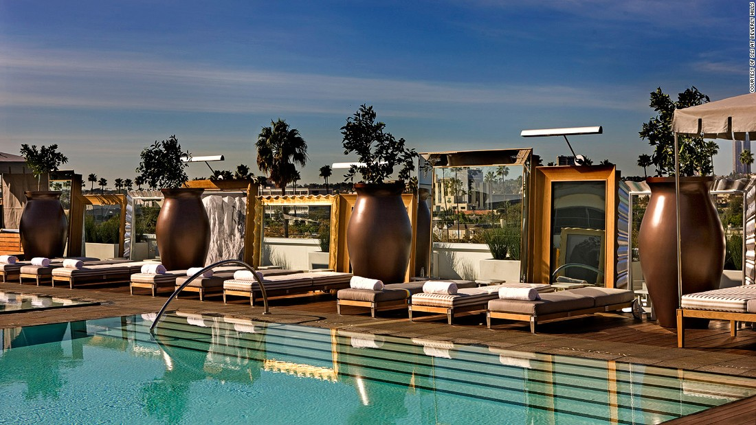 The SLS Beverly Hills's range of luxury poolside cabanas (from $300 with a $500 food and beverage minimum) earn their price tag with the most buzz-worthy poolside grub in L.A. -- small bites and specialty cocktails from celeb chef Jose Andres.