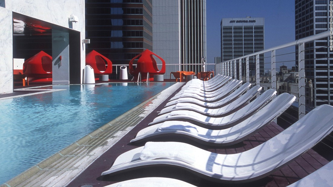 Red AstroTurf. Waterbed pods. Cushy couches. Fireplace. Dance area. German beer garden. Aerial views of Downtown. The party up by the Standard's rooftop pool is worth seeing.