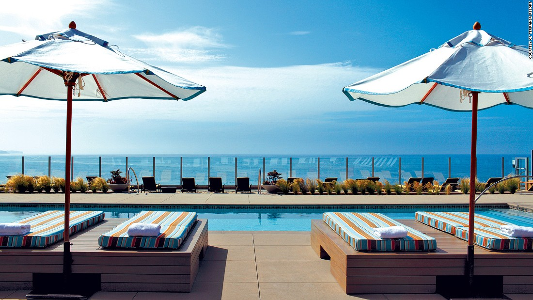 The Terranea Resort's seasonal Cielo Point pool (open May-September, for those 18-plus years old) is about as close as a pool gets to the Pacific.
